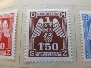 Bohmen und Mahren Bohemia and Moravia 1943 1.50k fine mh* stamp A11P9F44