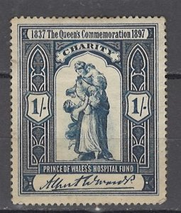 COLLECTION LOT OF #1046 GREAT BRITAIN CHARITY STAMP 1897