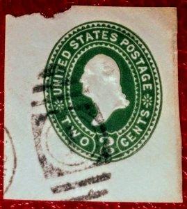 USA U318 2c Green on White, die 3