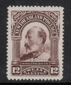 Newfoundland #102 Extra Fine Mint Barely Hinged
