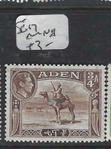 ADEN  (P0406B)  KGVI  3/4A  CAMEL  SG 17   MNH