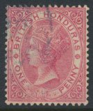 British Honduras SG 18 SC # 14 Used Rose  wmk Crown CA see scans and details