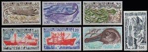 Scott #69-75 Fish and Ship MNH