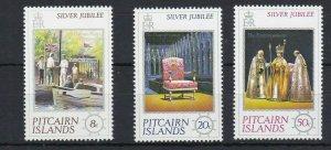 PN95) Pitcairn Islands 1977 QEII Silver Jubilee MUH