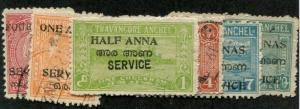 India - Travancore-Cochin SC# O12-7   Offical Service MH & U