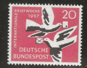 Germany Scott 775 MNH** 1957 Carrier Pigeon Bird stamp