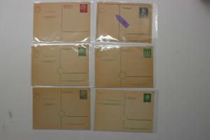 Germany Postal card stationery HG Higgins Gage Mint 292 316 339 340 341 363  DC