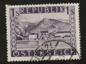 Austria Scott 512 Used stamp from 1947-48 set