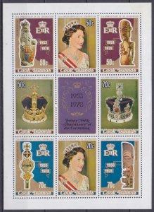 1978 Cook Islands 564-65/B84 25 years of the coronation of Elizabeth II 6,00 €