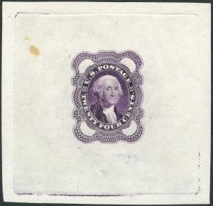 #70-E3a DIE ESSAY ON PROOF PAPER; RED VIOLET BP3908