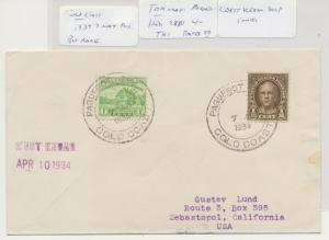GOLD COAST -USA 1934 TAKURADI PAQUEBOT COVER, WEST KEBAR SHIP, RARE !!, US 1½c