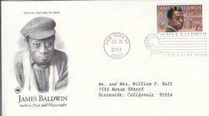 2004, Honoring James Baldwin, PCS, FDC (E9221)