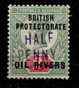 OIL RIVERS SG9 1893 d ON GB 2d GREEN & SCARLET MTD MINT