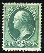 UNITED STATES SCOTT#147 3c WASHINGTON MINT  RE GUMMED