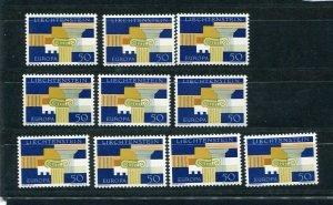 D093757 Europa CEPT 1963 Wholesale 10 Series MNH Liechtenstein