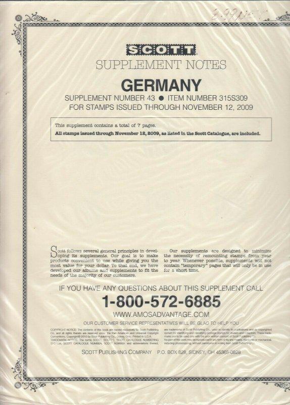 Scott Germany Supplement #43 2009