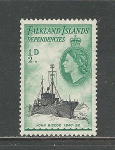 Falkland Islands Dependencies Scott catalog # 1L19 Unused Hinged