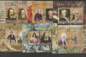 MALAWI  2008  GREAT SCIENTISTS   MINT VF NH  O.G ILLEGAL CTO S/S (MAL1  )