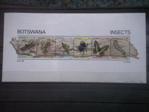 BOTSWANA, 1981, MNH SS, Insects, Scott 273a