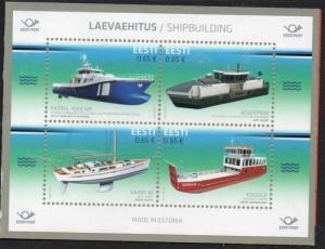Estonia Sc 837 2017 Estonian Ships stamp booklet pane mint NH