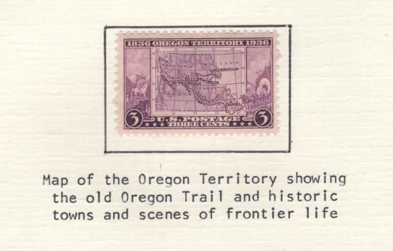US 1936 Stamps Centennial of the Oregon Territory Scott 783  MH