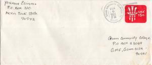 Caroline Islands 15c Uncle Sam Envelope 1981 Truk Caroline Islands TT 96942 t...