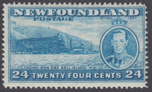 Newfoundland - #241 Long Coronation Issue, Bell Island Loading Ore - MH