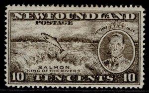 CANADA - Newfoundland GVI SG261, 10c blackish brown, M MINT.