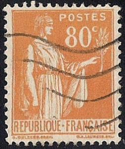 France #273 80C Peace Olive Stamp used EGRADED XF 91 XXF