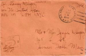 United States A.P.O.'s Soldier's Free Mail 1944 U.S. Army Postal Service, A.P...