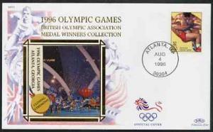 United States 1996 Atlanta Olympics 32c Wrestling on illu...