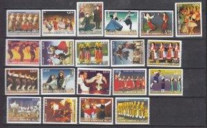 J26184  jlstamps 2002 greece set mnh #2004a-24a booklet set designs