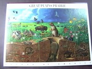 U.S.# 3506-MINT/NEVER HINGED--PANE OF 10---GREAT PLAINS PRAIRIE ---2001