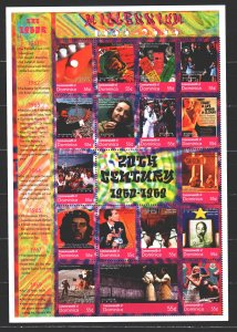 Dominica. 2000. Small sheet 3002-18. Millennium, the history of Chinese disco...