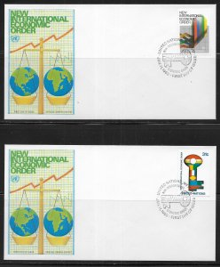 United Nations 316-17 New Economic Order Geneva Cachet FDC First Day Cover