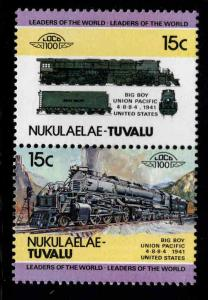 Nukulaelae-TUVALU Scott 4 MNH** Train pair