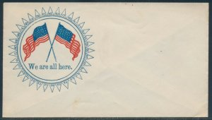 2 DIFF. FLAGS UNION CIVIL WAR PATRIOTIC COVERS BV3424