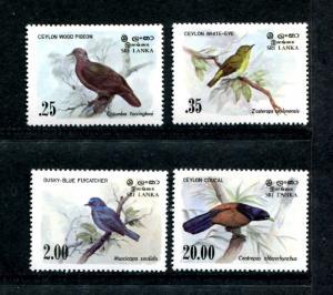 Sri Lanka 691-694, MNH, 1983 Birds,  x22640