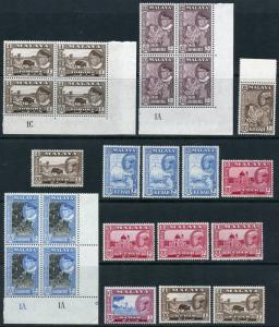 MALAYA SELANGOR  LOT OF STAMPS  NEVER HINGED WHITE PAPER