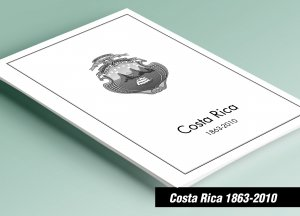 PRINTED COSTA RICA 1863-2010 STAMP ALBUM PAGES (207 pages)