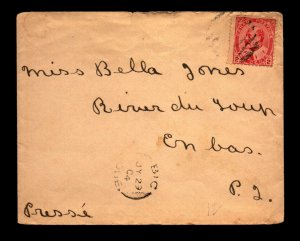 1904 BIC QC to Riviere-du-Loup QC Cover - L27799