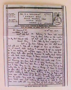 PALESTINE  V MAIL CENSORED  2169 OCT 1942 MEF TO LONDON