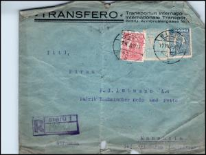 Goldpath: ROMANIA registered cover 1927, to Germany   _CV28_P15