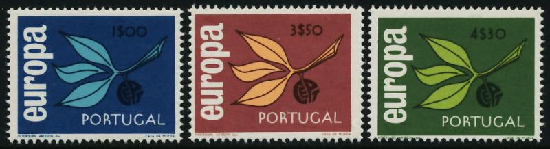 Portugal 958-60 MNH Europa, Leaves & Fruit