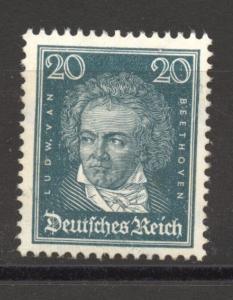 Germany 1926, Famous Germans, 20 Pf. Beethoven, MNH, superb, Scott # 357