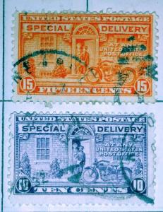 United States Special Delivery #8 and #9 Used