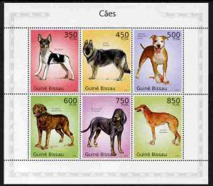 Guinea-Bissau MNH S/S Dogs 2010 6 Stamps
