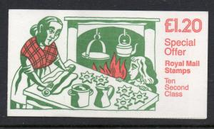 Great Britain Sc BK492 1986 10 x 13p Machin stamp booklet mint NH