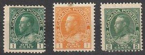 #104,105,107 Canada Mint OGH lot#190822-1