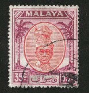 MALAYA Perak Scott 125 used stamp from 1952-1955 set